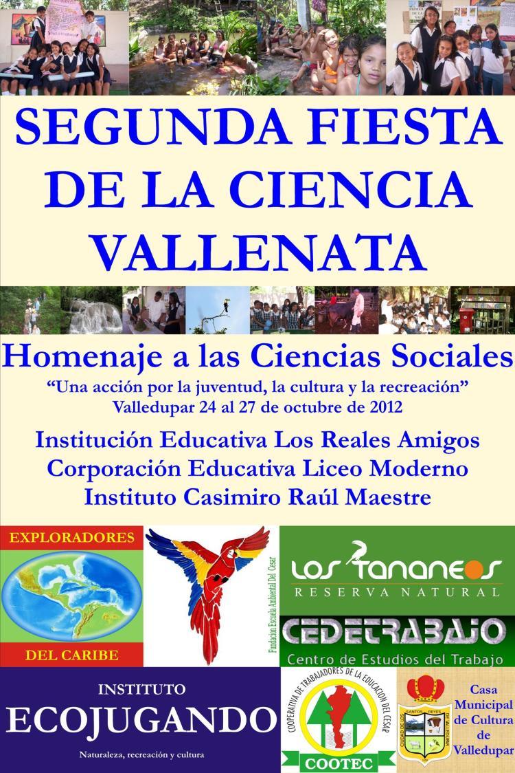 Póster oficial de la 2ª Fiesta de la Ciencia Vallenata