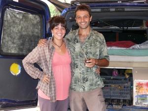 Julia Santander y Aldo Fernández en la Escuela Ambiental del Cesar