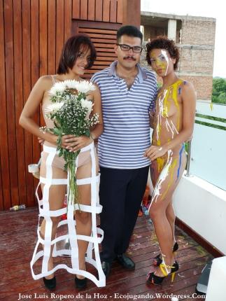 Profesoras Pameli Celedón y Marilin Arias en Dibujo Valledupar.