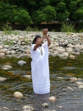 Canto al agua en el Río Guatapurí.