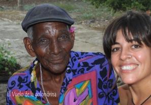 Magín Díaz con Julia Santander