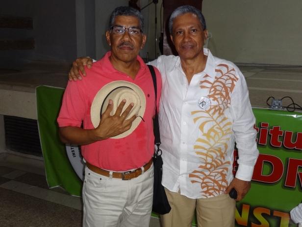 Los maestros José Atuesta Mindiola y Rómulo Bustos