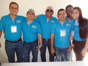 Funcionarios: Francisco Piscioti, Jair Sánchez, Víctor Solano, Fabián Cardona, Duber Simanca y Melisa Gómez. Foto: Ecojugando