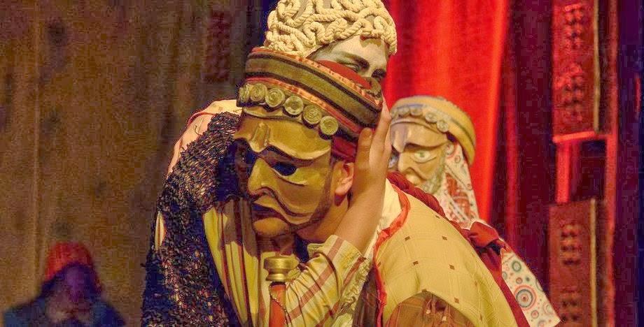 Representación teatral de Los Persas.
