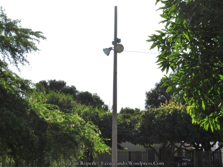 Luminarias instaladas en el secor. Foto: Jose Luis Ropero - Ecojugando.
