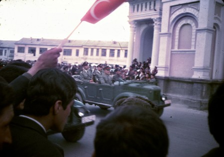 """An Afghan Army parade through Kabul."""