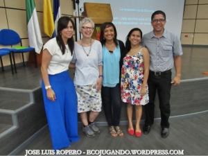 Gelca Gutiérrez, Kirsty Lewin, Fabiola Fuentes, Orieta Ortíz, Antonio Rudas. Foto: Jose Luis Ropero - Ecojugando.