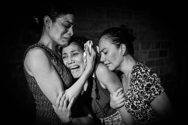 Carolina Rodríguez, Clarisa Cuadros y Ángela Moya. Foto: Ángela Bayeth - Andrés Mendoza (cortesía).