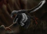 Recreación artística del Archaeopteryx.
