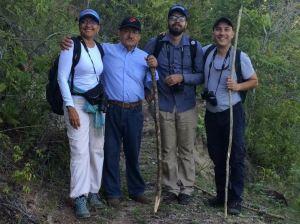 Fabiola Fuentes, José Ropero, Jose Luis Ropero, Erick Brenes. Foto: Reserva Natural Los Tananeos.