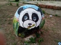 El oso panda.