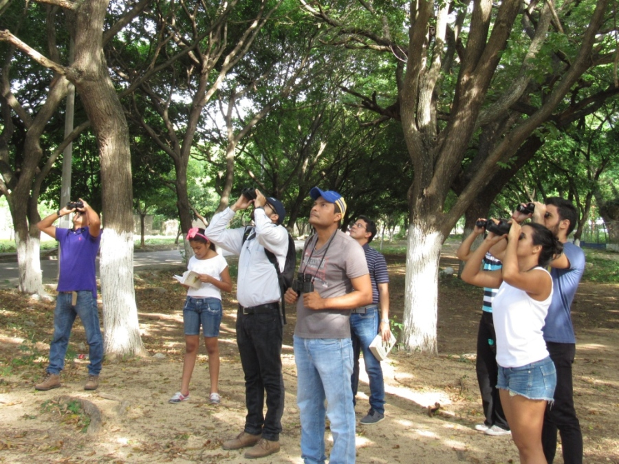 Observadores de aves en el río Guatapurí (Valledupar - Colombia)