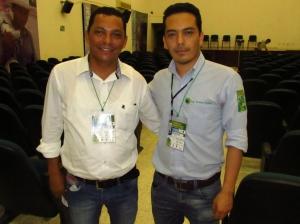 Organizadores del congreso, Duver Vides y Andrés Ochoa.