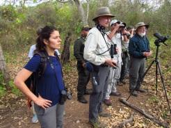 Katty Ropero, Steve Hilty y visitantes. Foto: Jose Luis Ropero.