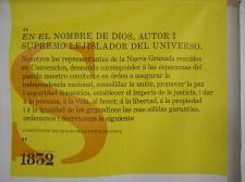Preámbulo constitución de 1832 Nueva Granada