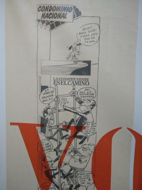 Caricatura sobre asamblea nacional constituyente