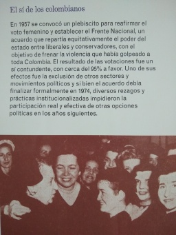Prensa 1957 Voto femenino Colombia