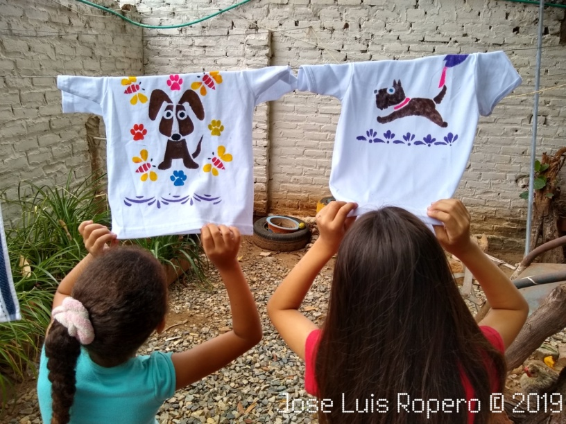 Camisetas pintadas por niñas