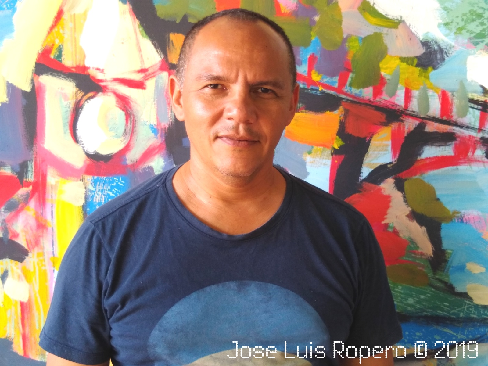 """Retrato del pintor de Valledupar Jose Luis Molina Torres """"Turri""""."""