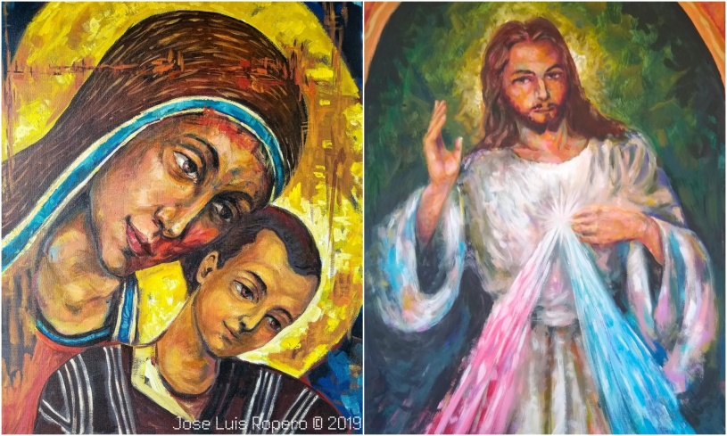 Virgen María y el Señor de la Misericordia