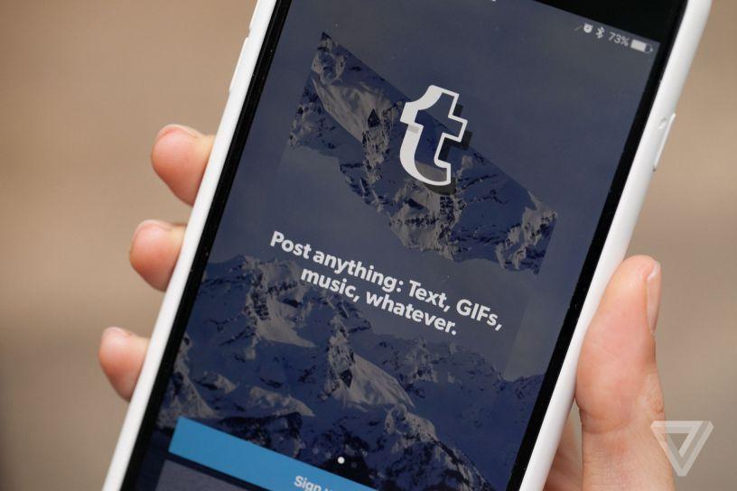 Smartphone Tumblr App