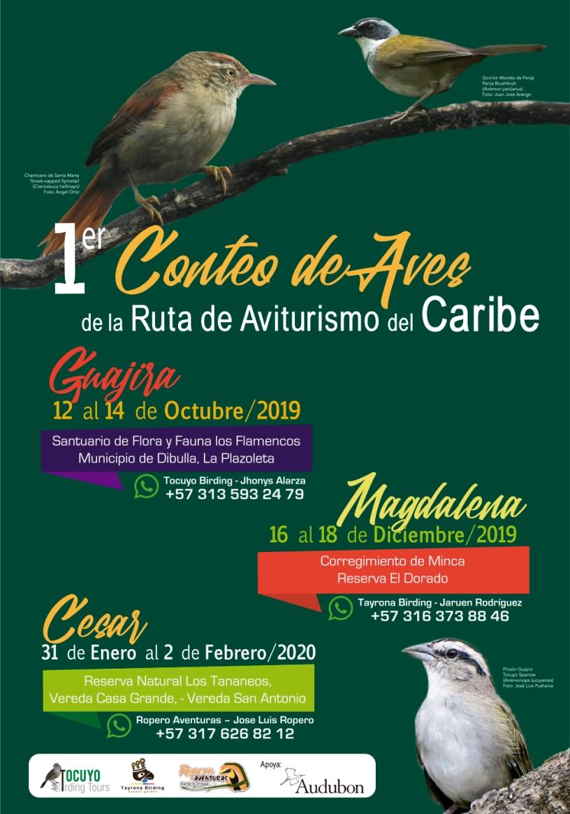Afiche Encuentro aviturismo del Caribe