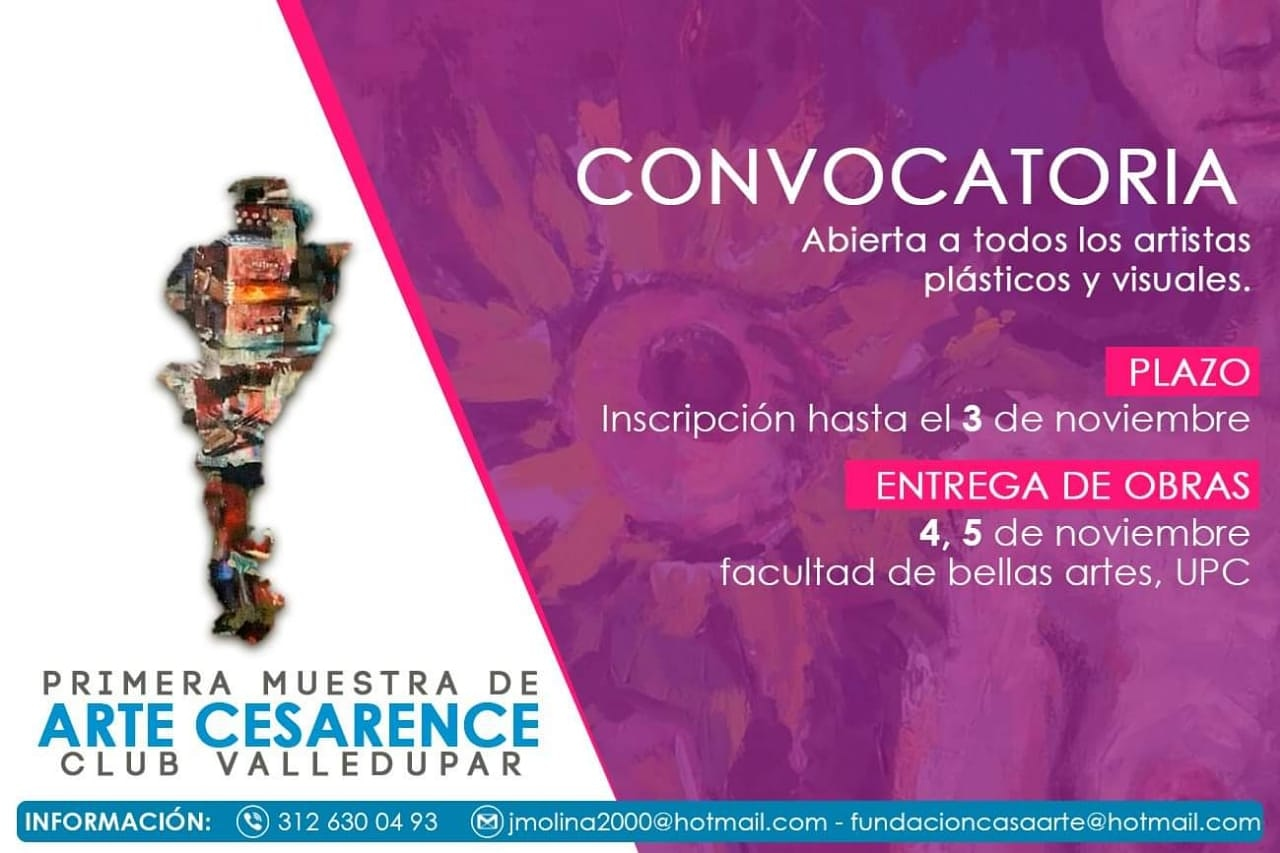 Convocatoria artistica club valledupar