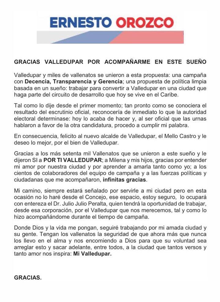 Carta de renuncia Gutierrez baute