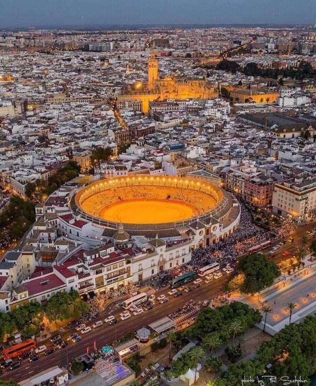 Vista aerea de Sevilla España.