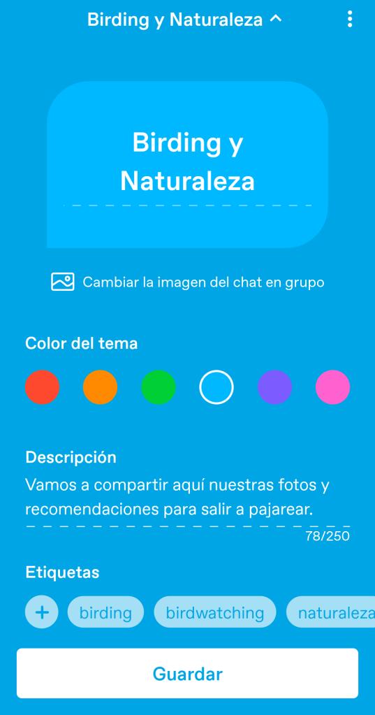 Inicio app Tumblr chat grupal