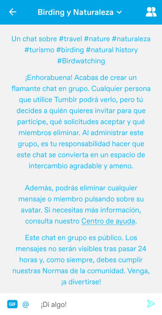 Inicio app tumblr
