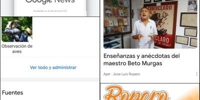 Ilustracion de noticias en Google News