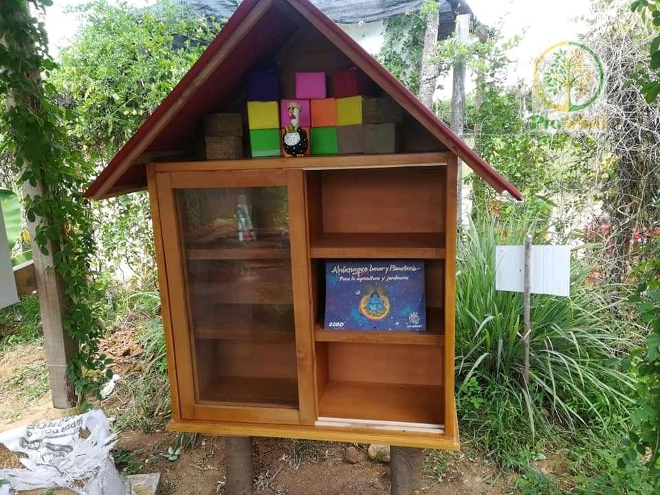 Estante de libros en madera