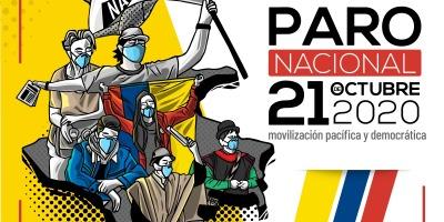 Afiche del paro nacional de Colombia