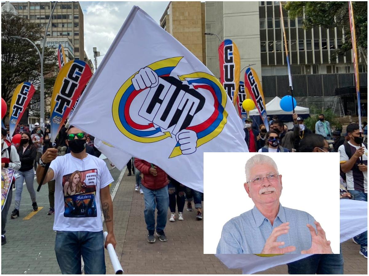 Manifestacion de personas en la via publica
