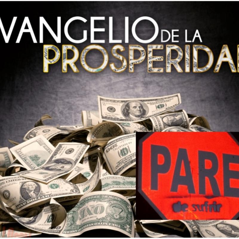 Ilustracion fotomontaje del evangelio de la prosperidad
