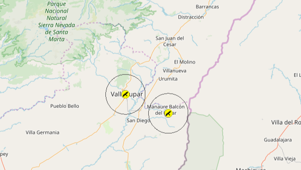 Christmas Bird Count Colombia circles