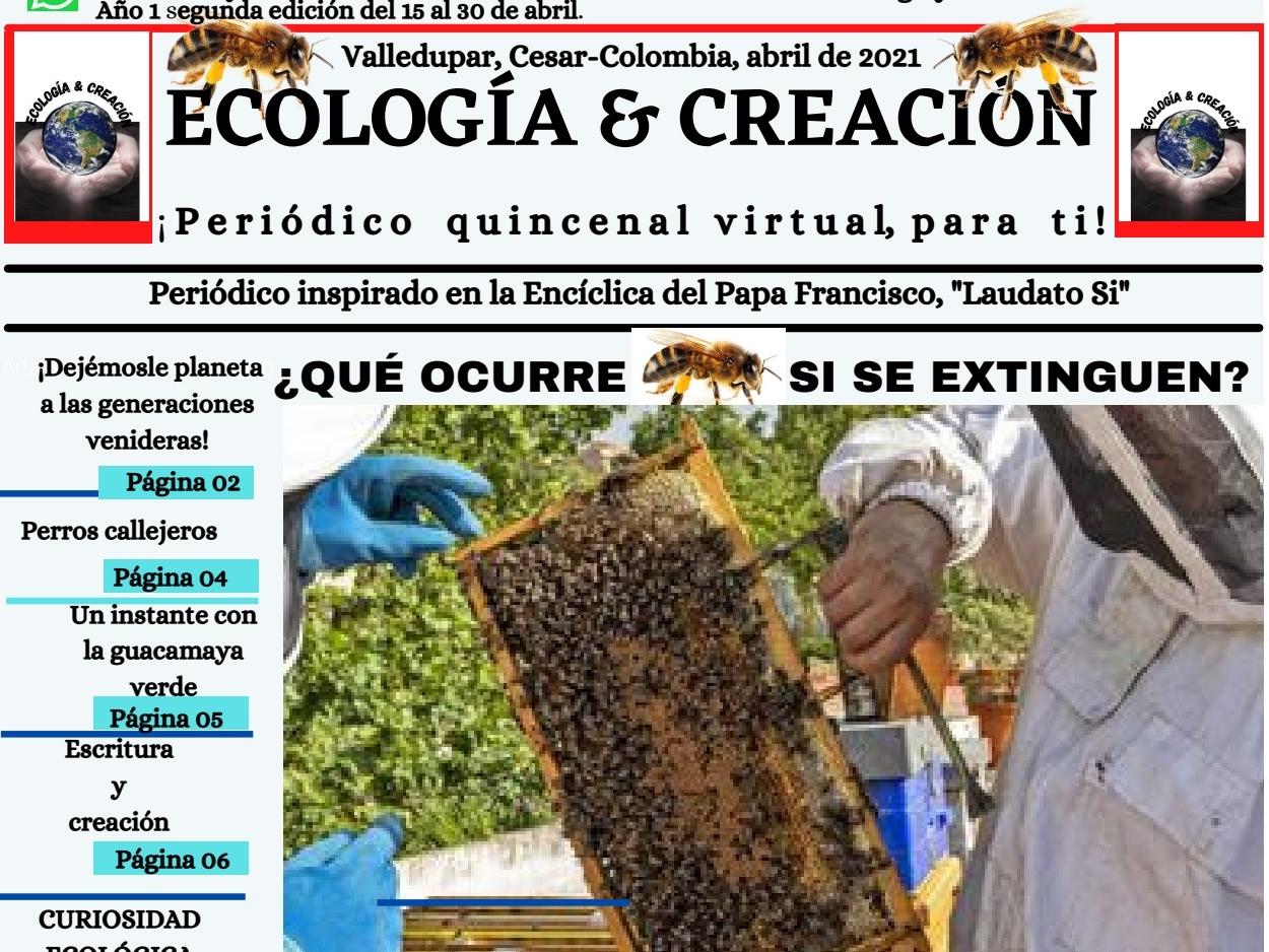 Portada de periodico extincion de las abejas