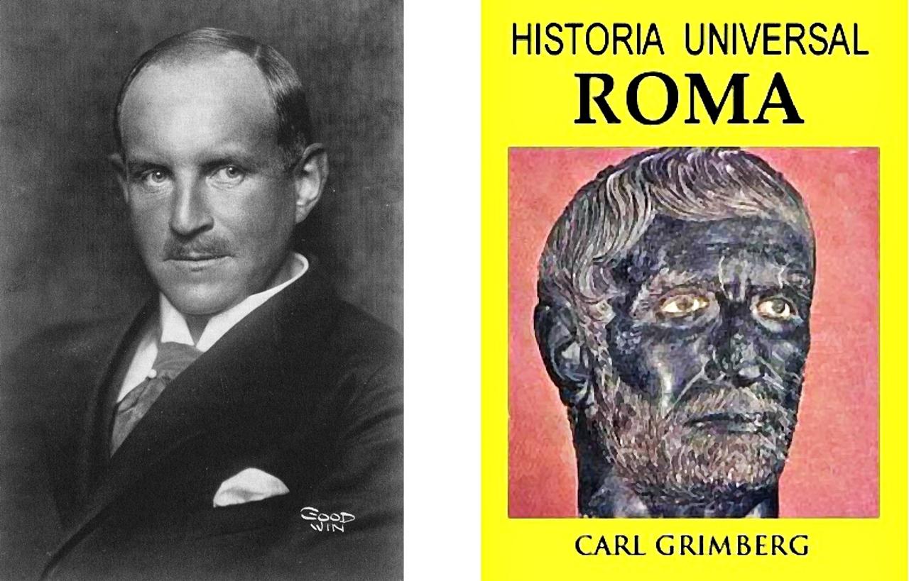 Retrato antiguo de un hombre y portada de un libro