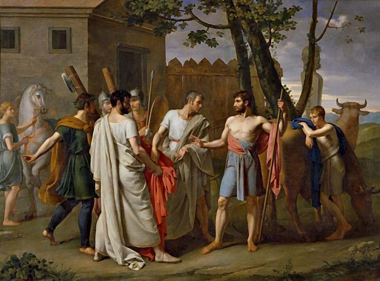 pintura del dictador romano cincinato