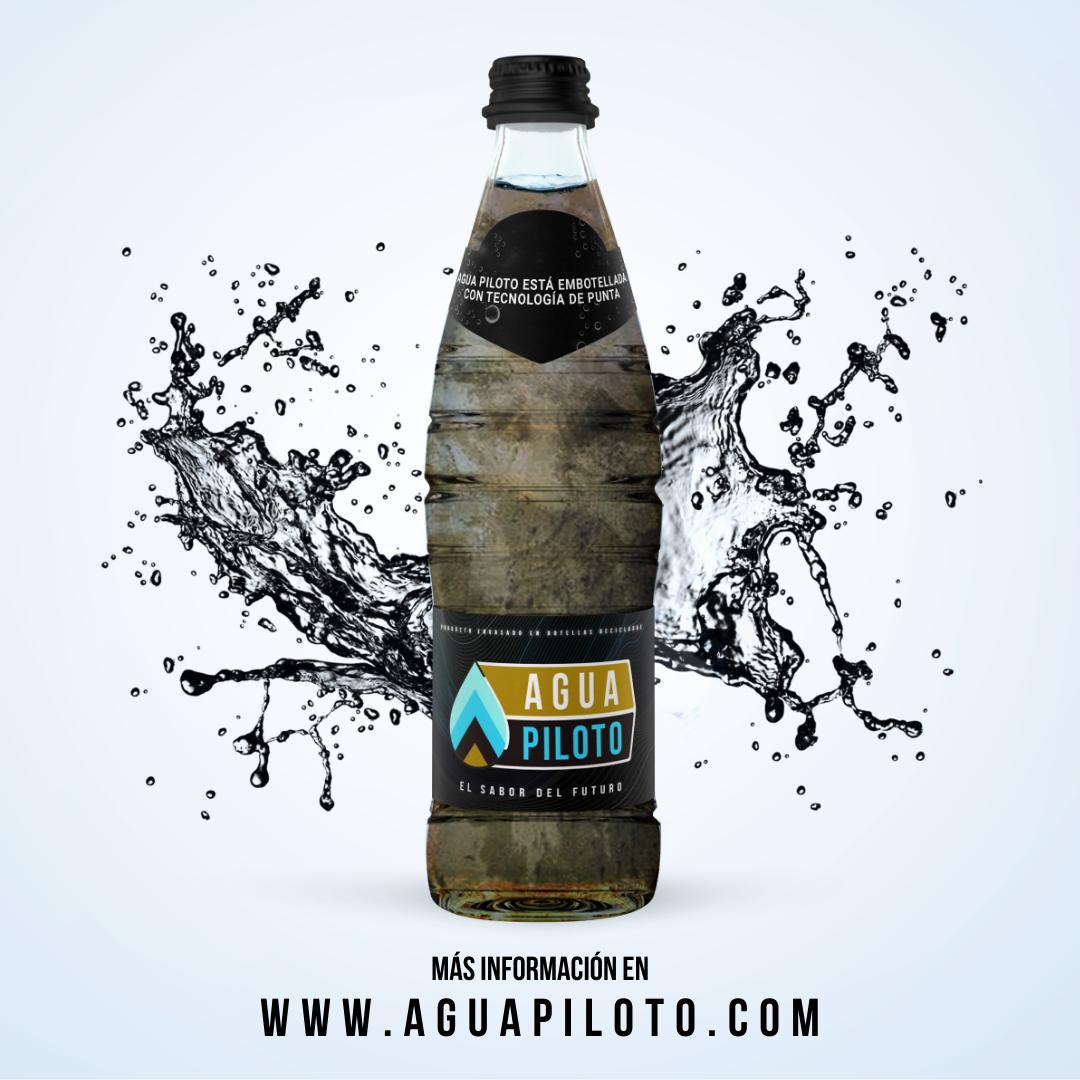 Botella con agua sucia, campaña publicitaria contra la contaminacion