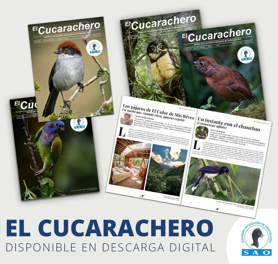 Portadas de varias revistas especializadas en aves